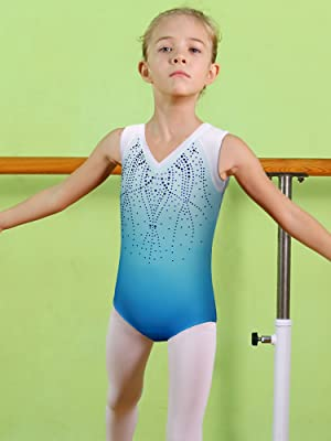7e97405f7a33 Amazon.com  BAOHULU Girls Gymnastics Leotards One-Piece 3-12 Years ...