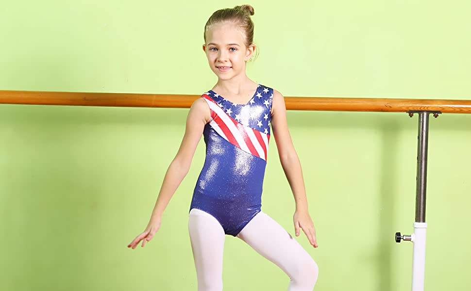 109900229 Amazon.com  BAOHULU Girls Leotards for Gymnastics Patriotic Sparkle ...