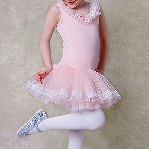 6711cb096 Amazon.com: BAOHULU Leotards for Girls Ballet Dance Tutu Skirted ...