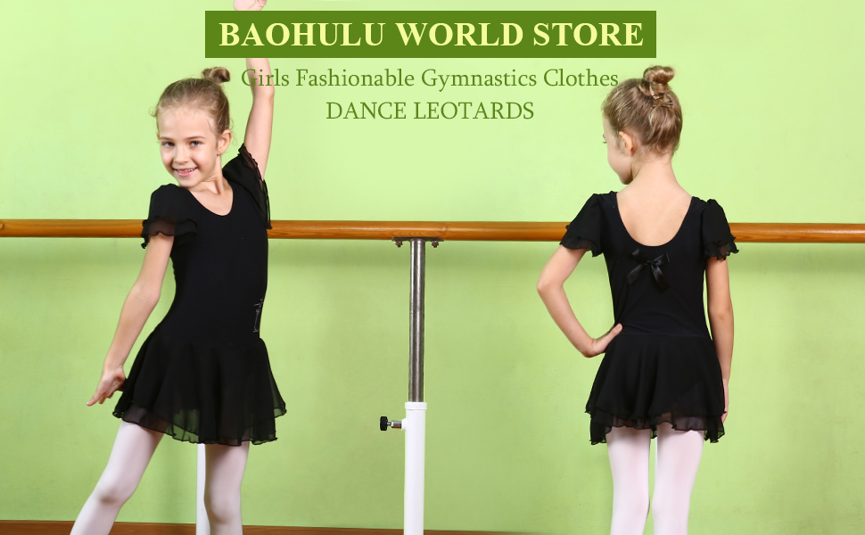 9c3f234a7 Amazon.com  BAOHULU Toddlers Ruffle Short Sleeve Tutu Ballet ...
