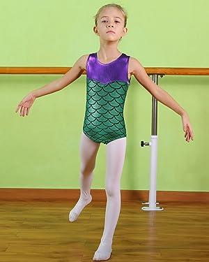 Amazon.com: BAOHULU Girls Gymnastics Clothes Shiny Spliced