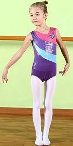 90da747f2 Amazon.com  BAOHULU Leotard for Toddler Girls Gymnastics Shiny ...