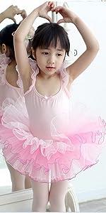 a7e81a48d079 Ballet Leotards for Girls Dance Classic Dress Polka Dot Dancewear · Ballet  Leotard for Girls Ruffle SleeveTutu Skirted Ballerina Dance Costumes ...