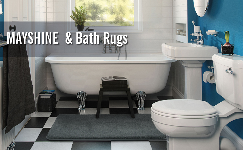 Amazon.com: MAYSHINE Bath mat Runners for bathroom rugs,Long floor ...