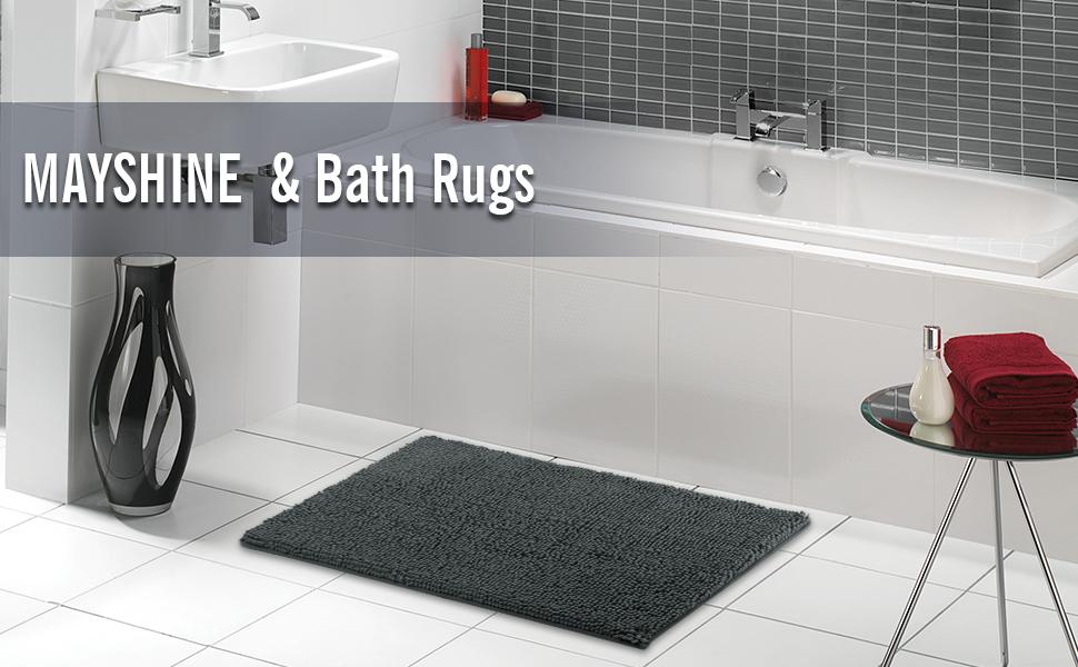 MAYSHINE 20x32 inch Non-Slip Bathroom Rug