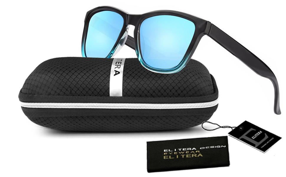 aec8a48233 Amazon.com  ELITERA Women Sunglasses Famous Lady Designer Gradient ...