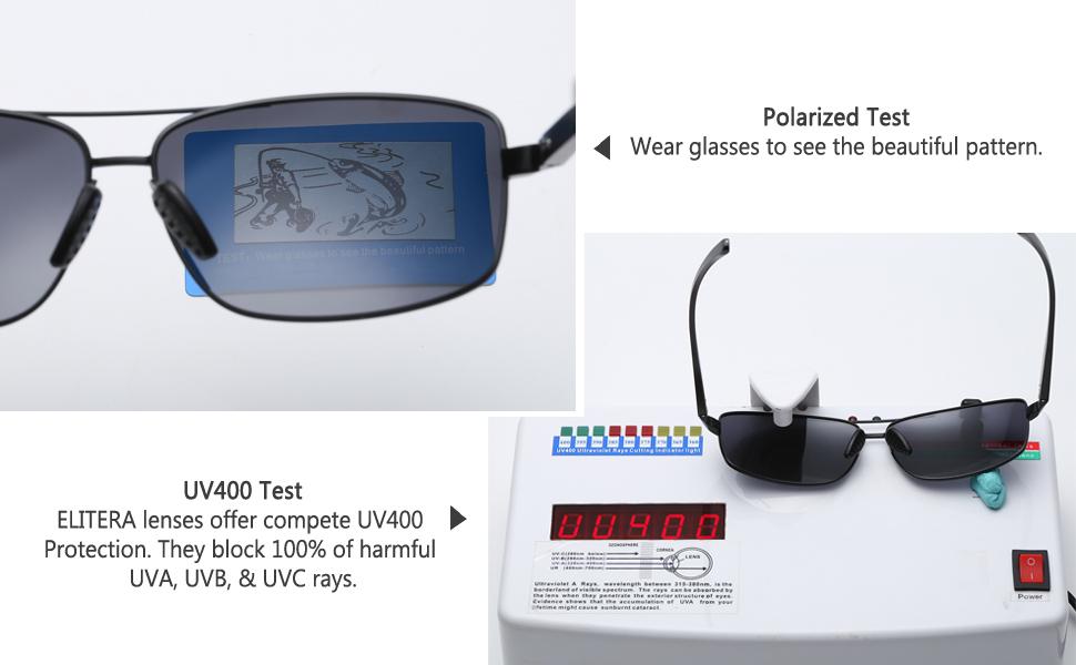 7ce5071902 Amazon.com  ELITERA Lightweight Square Polarized Sunglasses For Men ...