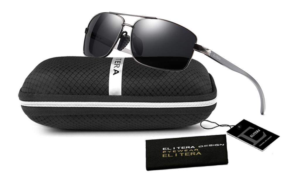 249b094a18 Amazon.com  ELITERA Lightweight Square Polarized Sunglasses For Men ...