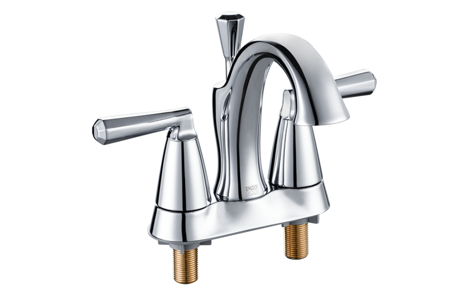 Enzo Rodi Erf2305338cp 10 Low Arc 4 Inch Center Set Bathroom Sink Faucet With L Ebay