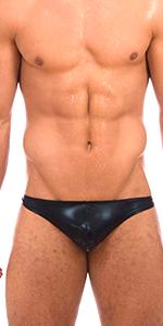 mens thong g string garym liquid black shiny sexy hot bikini briefs swimsuit
