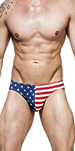 mens stars and stripes american flag swimsuit underwear bathing suit tight skimpy sexy
