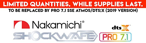 Nakamichi Shockwafe Pro 7.1 DTS:X Banner