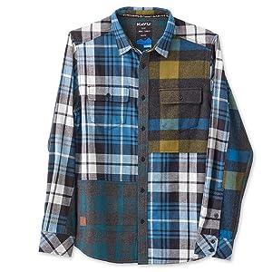 kavu button up flannel