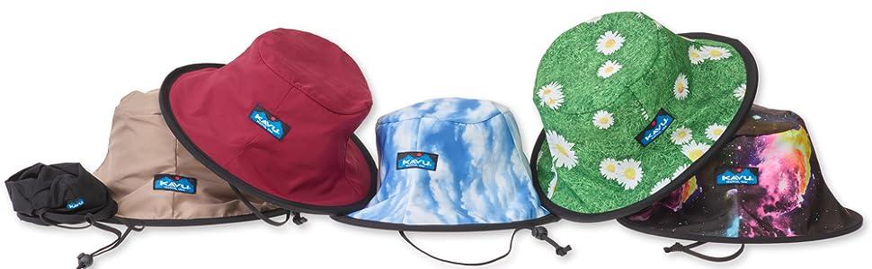 41bd556f KAVU Fishermans Chillba Bucket Hat Water Resistant Reversible Fishing Cap