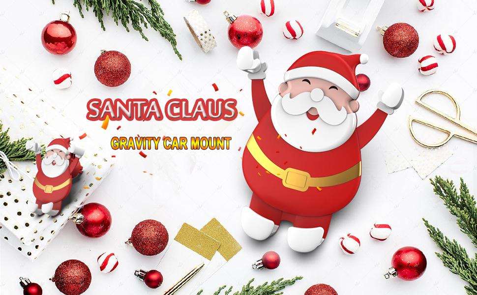 Santa Claus Gravity Car Mount