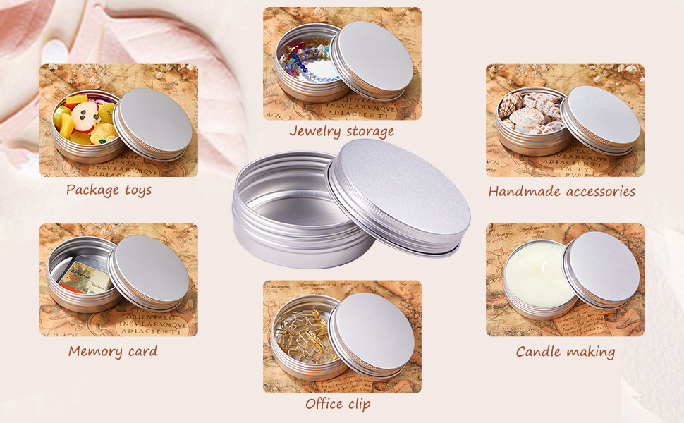 Aluminum Round Tins Empty Slip Slide Round Containers Bottle