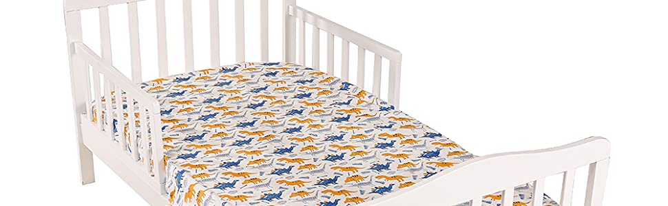 Small Fish//Gray Wave Pattern Crib Sheet Set UOMNY 100/% Natural Cotton Baby Coverlet Toddler Sheet Set for Baby Boys and Girls 2 Pack