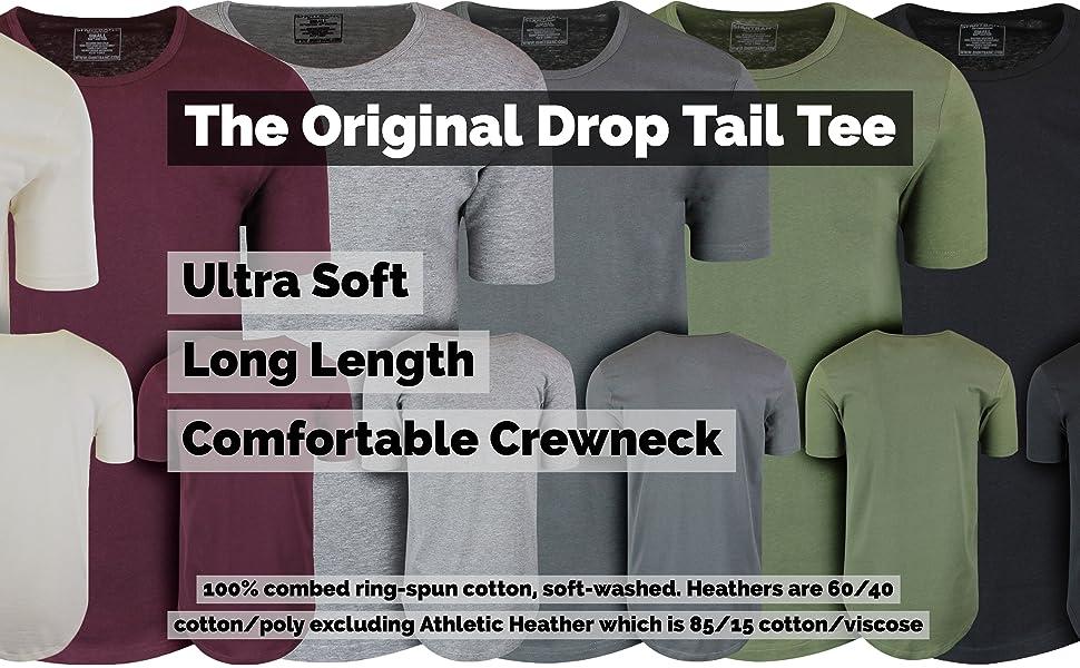 acb5cfe9d1b7 ShirtBANC drop tail tee elong scallop bottom hipster hip hop apparel tall shirt  long tee