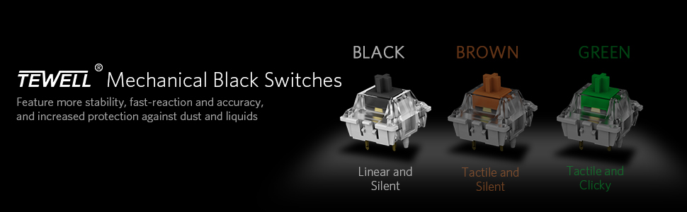 BLACK SWITCHES LINEAR ACTION