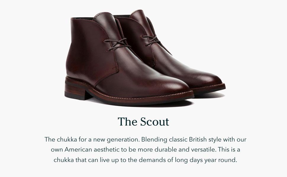 Classic chukka boot. Durable and versatile.