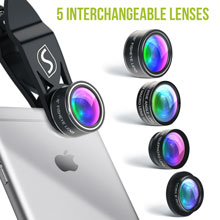 5 in 1 lens kit for smart phone photography 5 in 1 set interchangeable lenses picture effects  5 in 1 Phone Camera Lens Kit – Optical Glass Attachment Set – 2X Zoom Telephoto, 198 Fisheye, 0.63X Wide Angle, 15X Macro, CPL Filter with Universal Clip Adapter for Cell Phones and Tablets (Black) efc97263 dc9f 40e8 ab28 81eb686df8bb