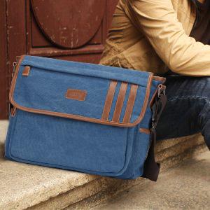 S-ZONE Mens 14 Inch laptop Lightweight Canvas Messenger Bag Travel Crossbody Shoulder Bag