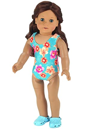 Amazoncom Doll Bathing Suit fits American Girls Dolls Aqua 18