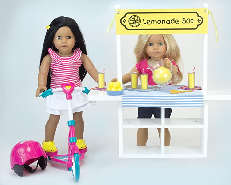 Amazon.com: Sophia's Doll Scooter & Helmet Set Made, 18