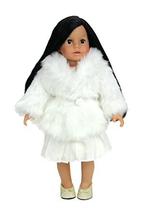 If your 18 inch doll is a fashionista this off-white fur dress coat is just what she needs! This fluffy doll coat is great for fancy occasions or whenever ...  sc 1 st  Amazon.com & Amazon.com: Dress Doll Coat in Creamy White Fur fits American Girl ...