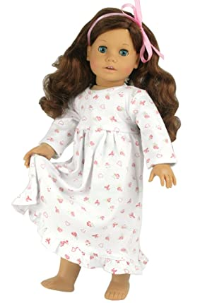 Amazon.com: 18 Inch Dolls Clothes Nightgown fits American