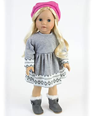 Amazon.com: Doll Clothes 4 Pc. Outfit fit for 18 Inch