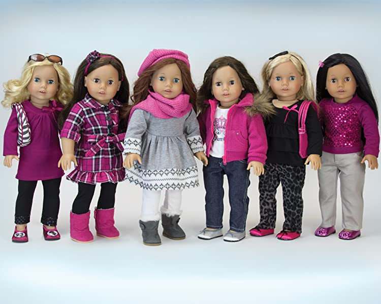"""Penelope and Friends 4-Piece Doll Outfit for 18/"""" doll fits American Girl Dolls"""