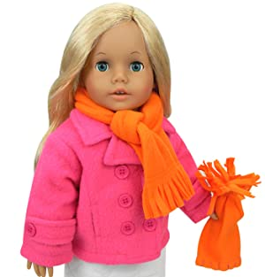 Amazon.com: 18 Inch Doll Clothes 4 Pc. Winter Doll Outfit