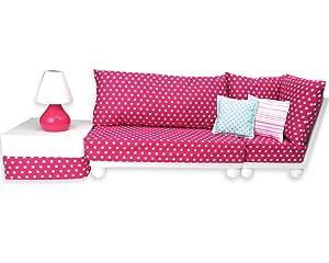 Amazon.com: 18 inch Doll furniture: 4 PC. Set completo de ...