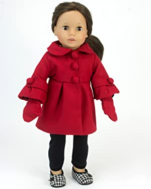 AFW RED DRESS OUTFIT for American Girl Dolls Cowgirl NEW Fringe Leather Clothes