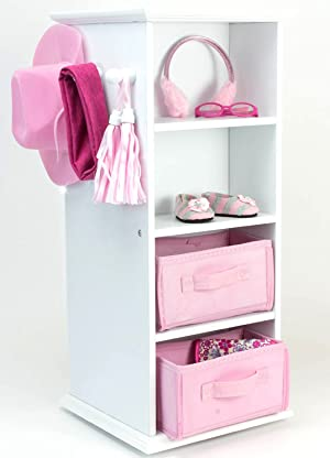 Organizing Your 18 Inch Doll Clothes And Accessories Will Be So Easy With  This Storage Swivel Tower! On One Side, There Is A Compartment To Store  Your Doll ...