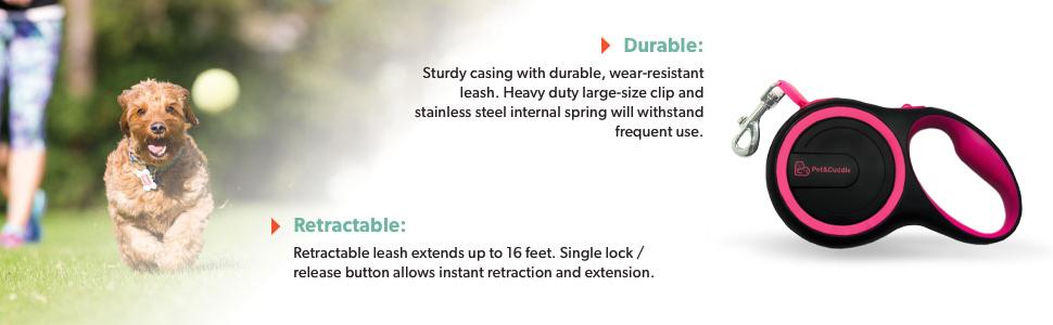 retractable dog leash, dog leashes, dog leash, large, small, medium, heavy duty, extension