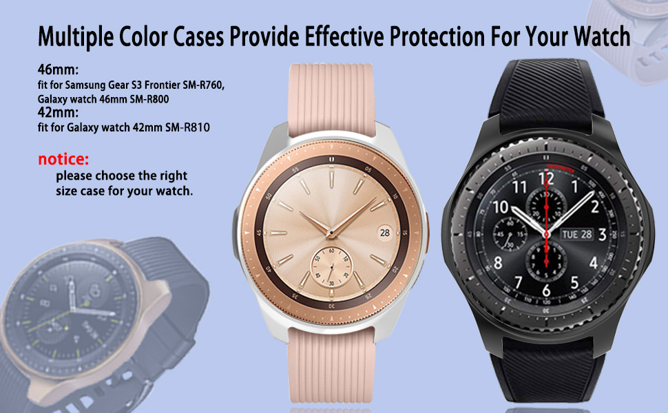 5 Pack Case for Galaxy Watch 42mm, Haojavo Soft TPU Plated [Scratch-Proof] All-Around Protective Bumper Shell Protector for Samsung Galaxy Watch 42mm ...