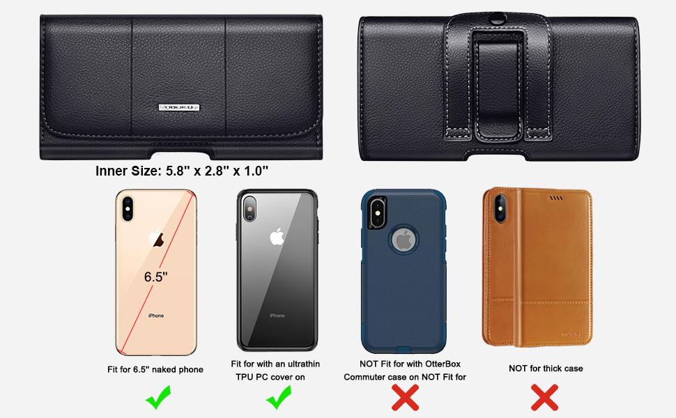Amazon.com: Nuoku - Funda horizontal de piel para iPhone X 8 ...