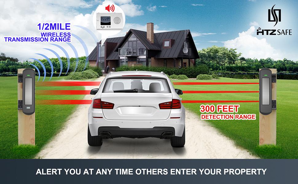 driveway alarm wireless long range