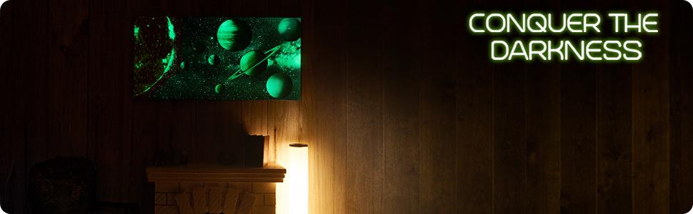 glow in the dark wall decor