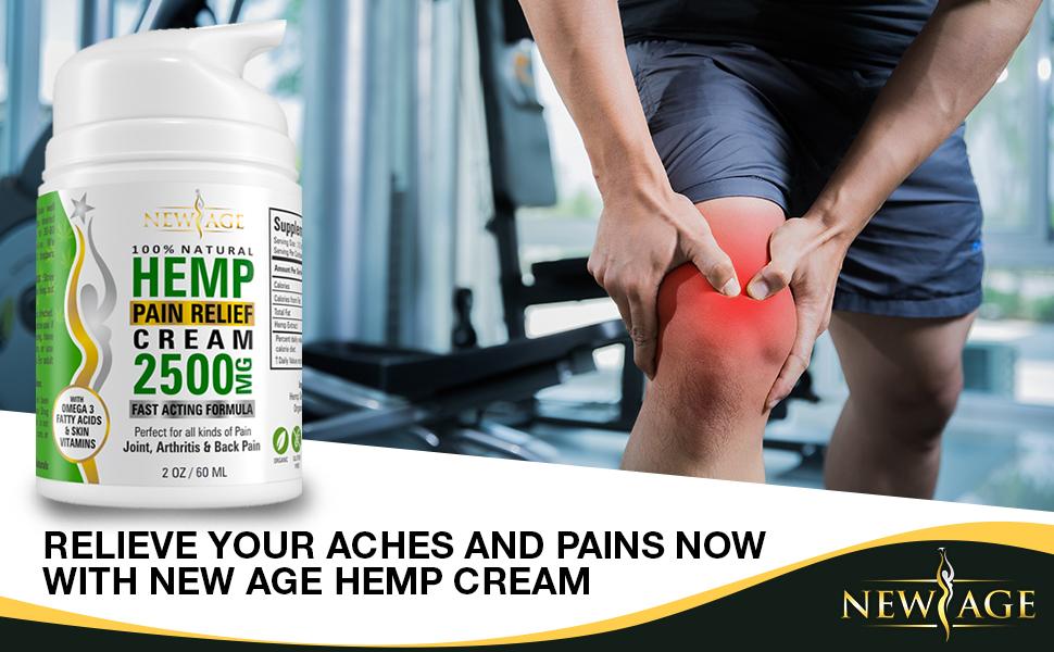 new age hemp cream oil pain relief
