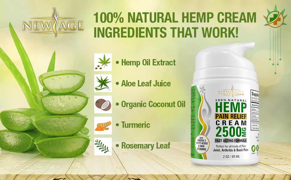 new age hemp cream oil cbd pain relief