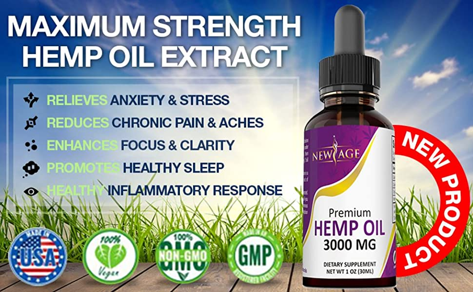 new age hemp extract oil gummies