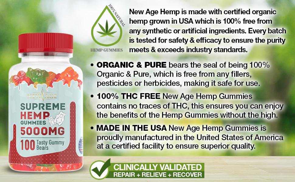 new age gummies hemp oil extract