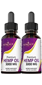 new age hemp oil cbd anxiety sleep pain relief