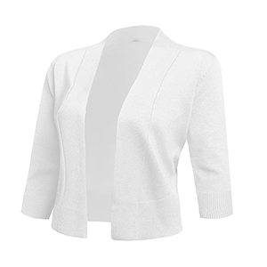 f5f850159b AAMILIFE Women s 3 4 Sleeve Cropped Cardigans Sweaters Jackets Open Front  Short Shrugs for Dresses