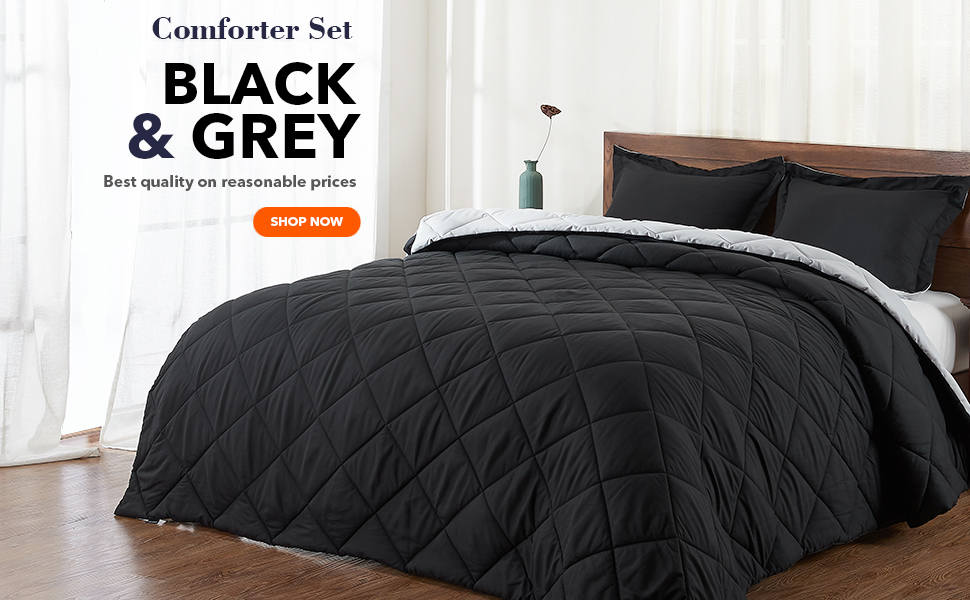 black comforter set