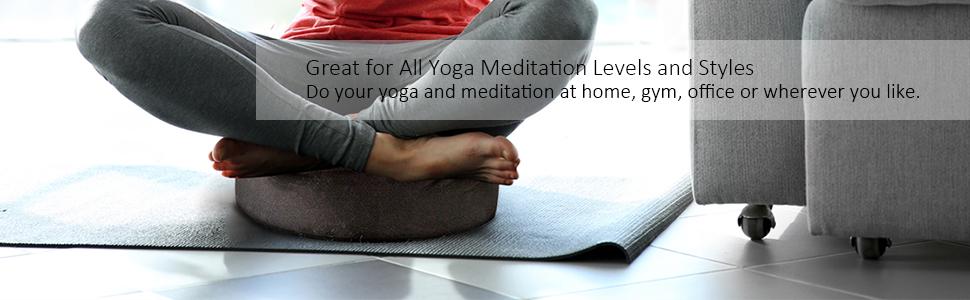 Amazon.com: REEHUT Zafu - Cojín de meditación para yoga ...