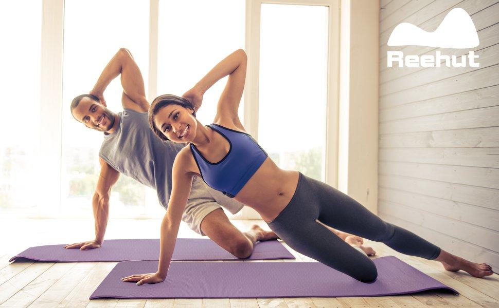 Amazon.com: reehut 1/4-inch TPE ejercicio de alta densidad ...